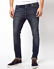 ASOS Super Skinny Jeans In Washed Blue