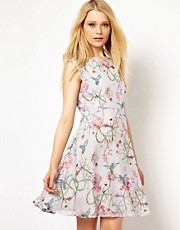 French Connection Eden Print Skater Dress