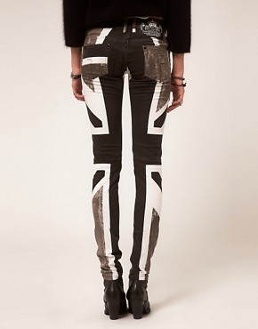 Image 2 ofReligion Skinny Jeans With Union Jack Print