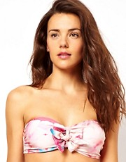 ASOS Rose Bow Bandeau Fuller Bust Bikini Top D-F