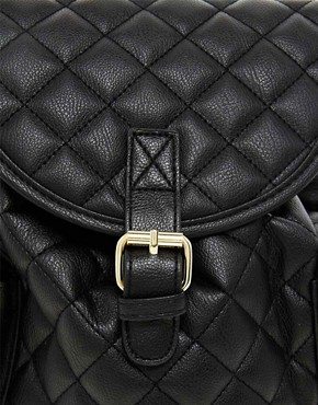 Image 4 of ASOS Mini Quilted Backpack