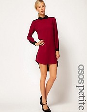 Vestido camisero con bajo asimtrico exclusivo de ASOS PETITE