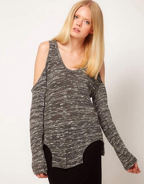 Image 1 ofLnA Carmen Cut Out Sweater