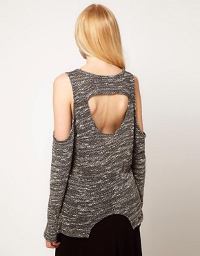 Image 2 ofLnA Carmen Cut Out Sweater