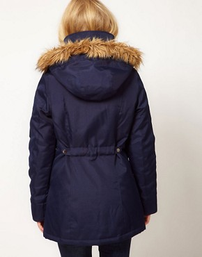 Image 2 ofVero Moda Fur Trim Hood Parka Coat