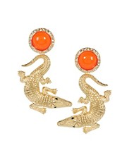 ASOS Crocodile Drop Earrings