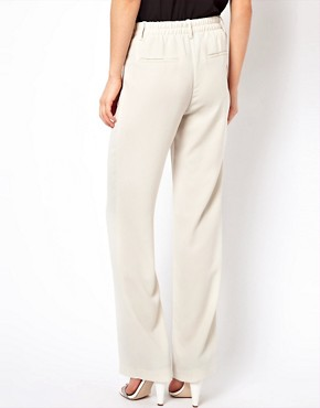 Image 2 ofMango Crepe Wide Leg Tailored Trouser