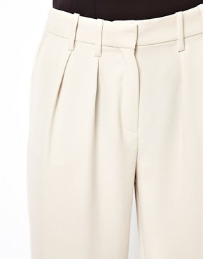 Image 3 ofMango Crepe Wide Leg Tailored Trouser