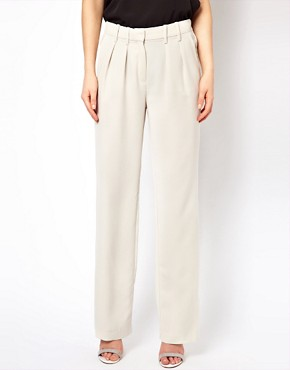 Image 4 ofMango Crepe Wide Leg Tailored Trouser