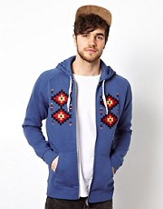 ASOS Hoodie With Aztec Embroidery