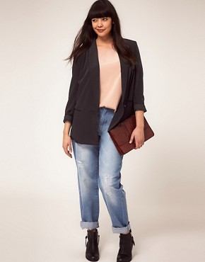 Image 4 ofASOS CURVE Loose Fit Blazer