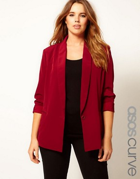 Image 1 ofASOS CURVE Loose Fit Blazer