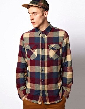 Image 1 ofVans Shirt Box Check Slim Flannel