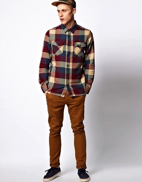 Image 4 ofVans Shirt Box Check Slim Flannel