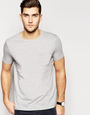 Image 1 ofASOS Crew Neck T-Shirt With Pocket