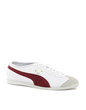 Image 1 ofPuma Fit Leather Trainers