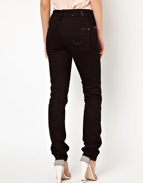 Image 2 of7 For All Mankind Cristen Mid Rise Skinny Jeans