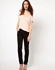 7 For All Mankind Cristen Mid Rise Skinny Jeans
