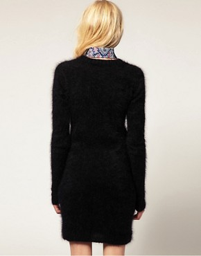 Image 2 ofJ.W. Anderson Angora Midi Dress with Liberty Collar