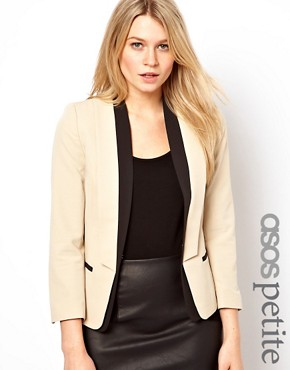 Image 1 ofASOS PETITE Exclusive Blazer With Contrast Lapels