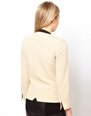 Image 2 ofASOS PETITE Exclusive Blazer With Contrast Lapels