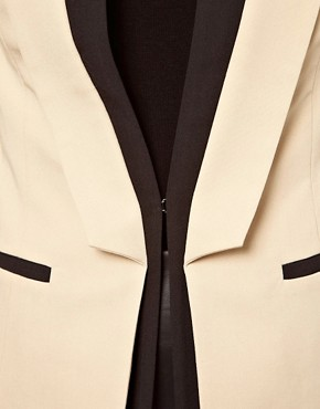 Image 3 ofASOS PETITE Exclusive Blazer With Contrast Lapels