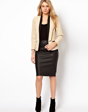 Image 4 ofASOS PETITE Exclusive Blazer With Contrast Lapels