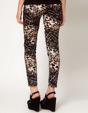 Image 2 ofOh My Love Leopard Skinny Jeggings