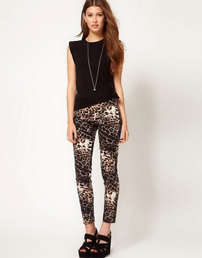 Image 1 ofOh My Love Leopard Skinny Jeggings
