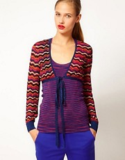 M Missoni Lurex Cropped Cardigan