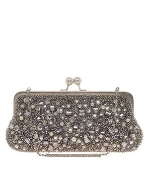 Image 1 of Oasis Gem Covered Clutch Bag