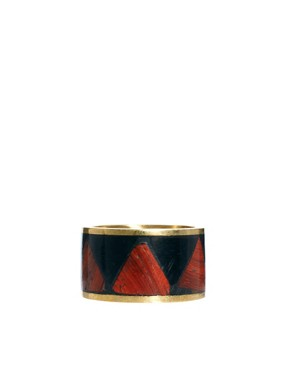 Image 4 ofASOS Aztec Wooden Ring