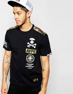 AAPE By A Bathing Ape T-Shirt With AAPE Badge Print