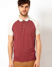 ASOS Polo With Contrast Raglan Sleeves
