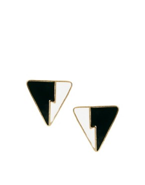Image 1 of ASOS Zig Zag Triangle Earrings