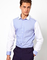 River Island Poplin Shirt in Colour Block