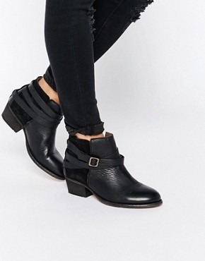 Hudson London Black Leather Horrigan Ankle Boot