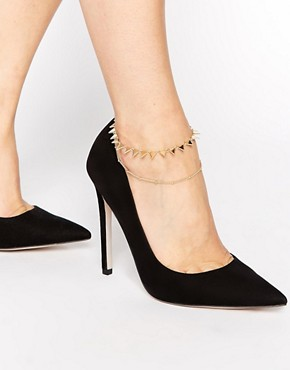 River Island Double Row Triangle Anklet
