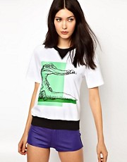 Ostwald Helgason Short Sleeved Sweater with Croc Print