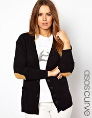 ASOS CURVE Elbow Patch Cardigan