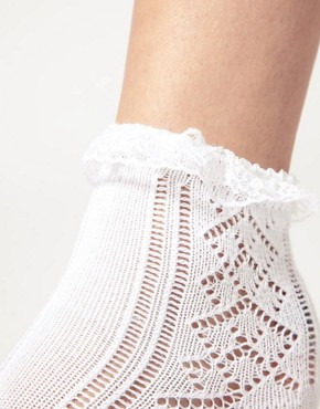 Image 2 ofASOS Lace Trim Pelerine Socks