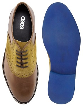 Image 3 ofASOS Saddle Shoes in Leather and Suede