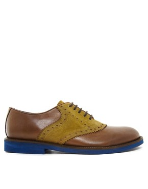 Image 4 ofASOS Saddle Shoes in Leather and Suede
