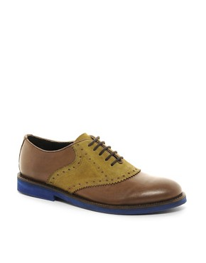 Image 1 ofASOS Saddle Shoes in Leather and Suede