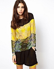 ASOS Africa Top in Mixed Print