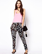 ASOS Peg Pants in Aztec Print