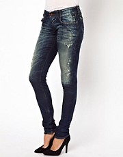 Diesel Groupee Destroy Wash Skinny Jean