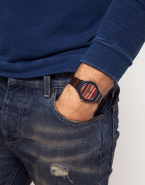 Bild 2 von ASOS  Armbanduhr mit Fairisle-Muster auf dem Zifferblatt
