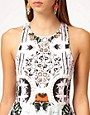 Image 3 ofAlice McCall Racer Back Flared Dress in Printed and Beaded Fabric