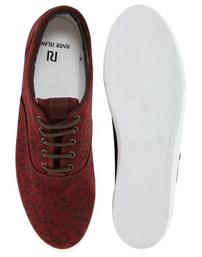Image 3 ofRiver Island Canvas Plimsolls